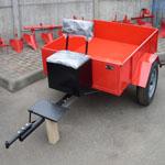Тележка ТМ-2/550 (грузоп. 550кг), инс. ящик, мяг. сид., R13. Кузов 1500х1240мм.