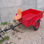 Тележка ТМ-2/550 (грузоп. 550кг), колеса 4х8 и пластик. сид. Кузов 1500х1200мм.